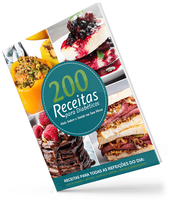 capa do ebook 200 receitas para diabéticos