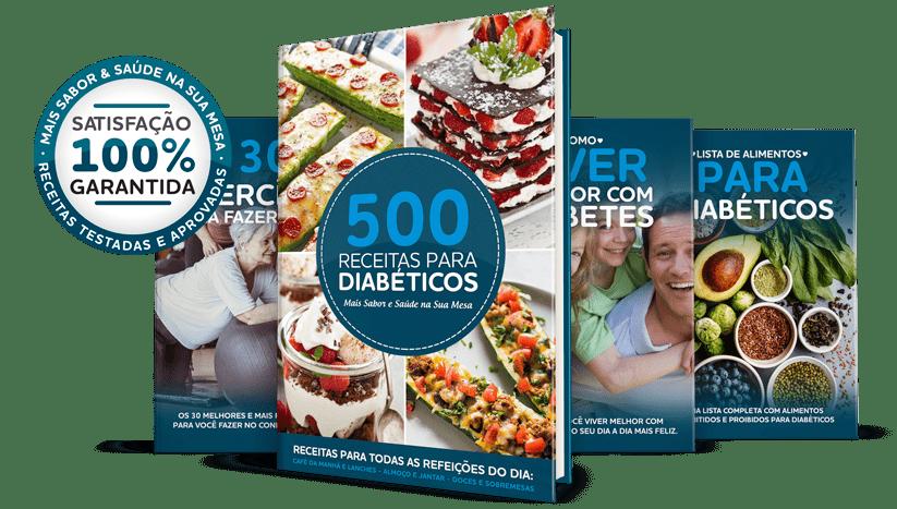 Ebook 500 Receitas para Diabéticos + 3 Bônus Grátis